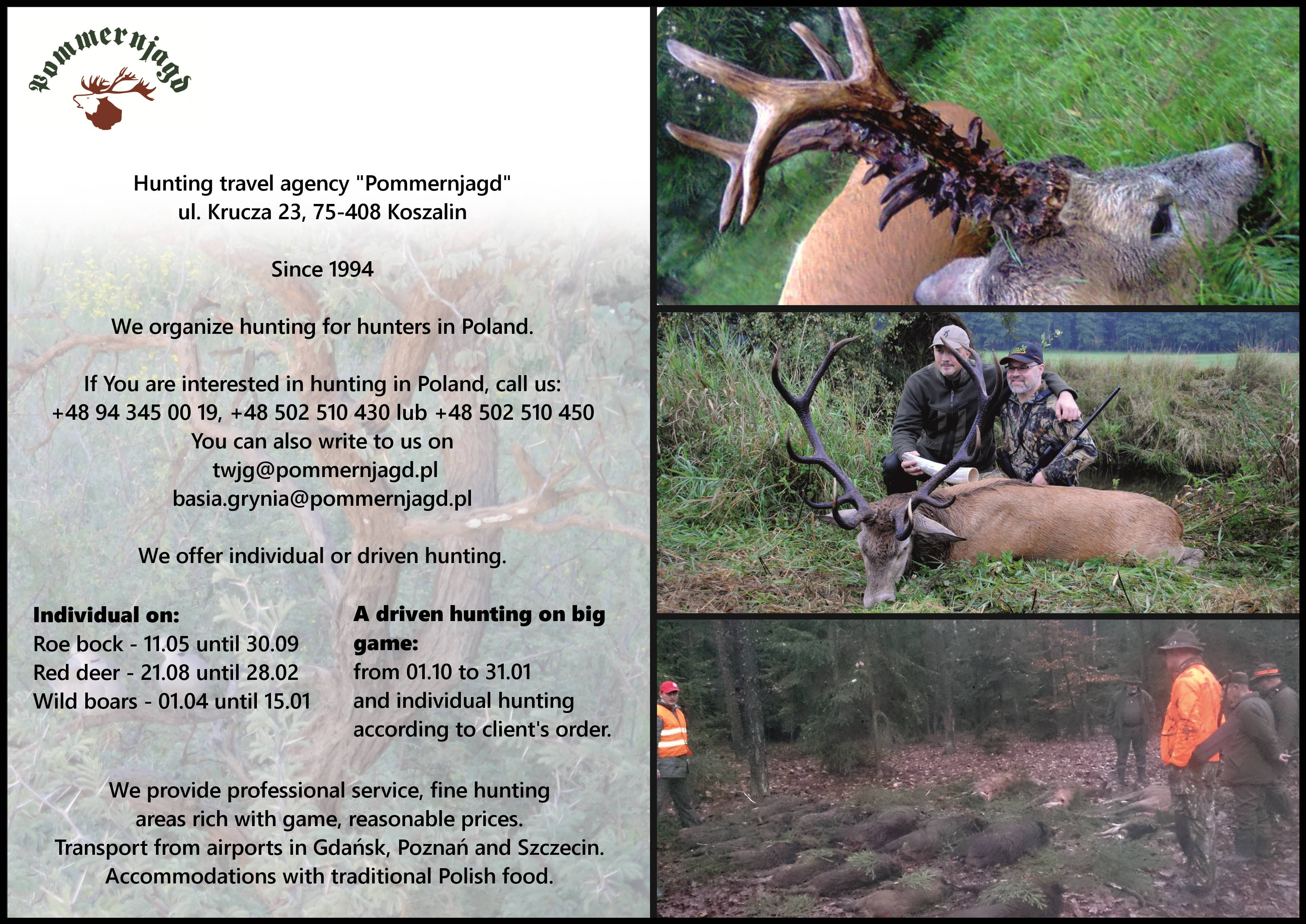 Leaflet - hunting for hunters in Poland.