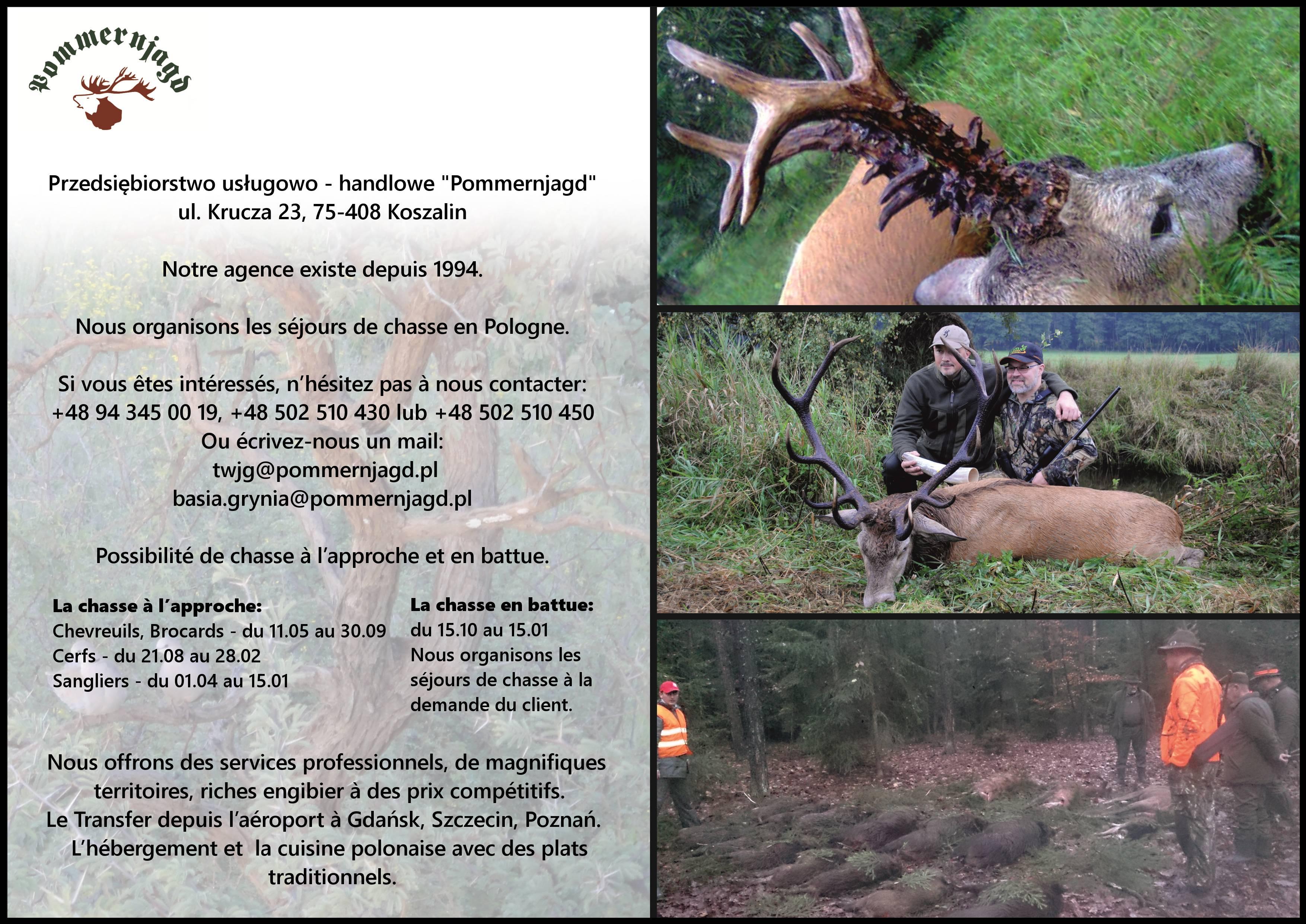 Le dépliant - Offre de chasse